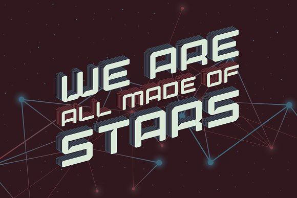 Lost in space. Futuristic typeface