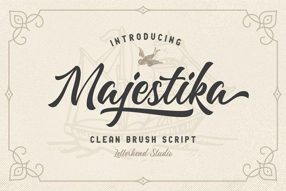 Majestika - Clean Brush Script