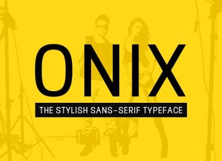 ONIX - Stylish Typeface + Web Fonts