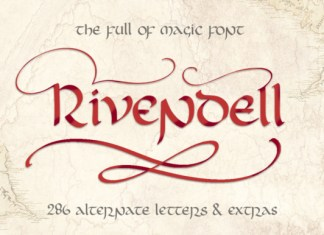 Rivendell Script Font