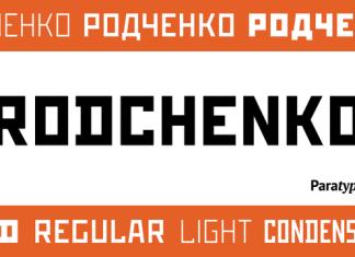 Rodchenko Font Family