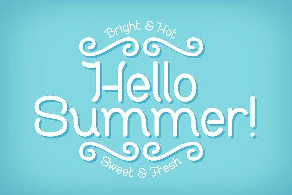 Sweet & Fresh font with Mockup Font