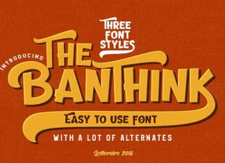 The Banthink - 3 Font Styles