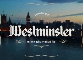 Westminster Font Script