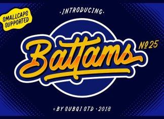 Battams No 25 Pro Font