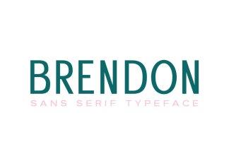 Brendon Sans Serif Typeface Font