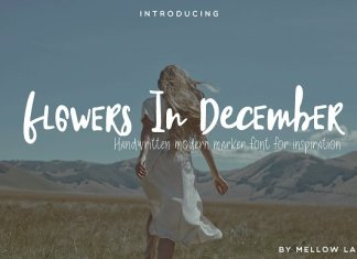 Flowers In December Font Duo
