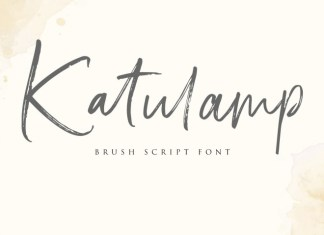Katulamp Handwriten Brush Font