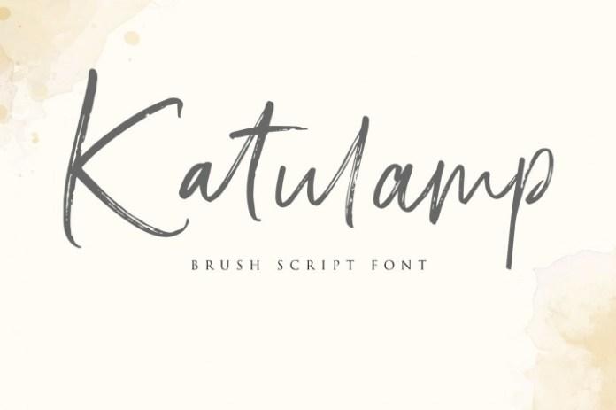 Katulamp Handwriten Brush Font