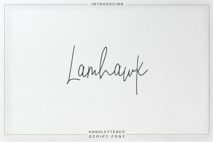 Lamhawk  Script Font