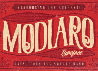 Modiaro vintage branding logo font