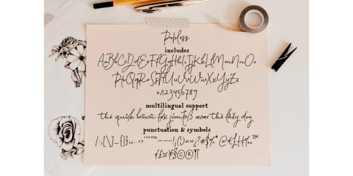 Popless Font