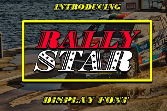 Rally Star Display Font