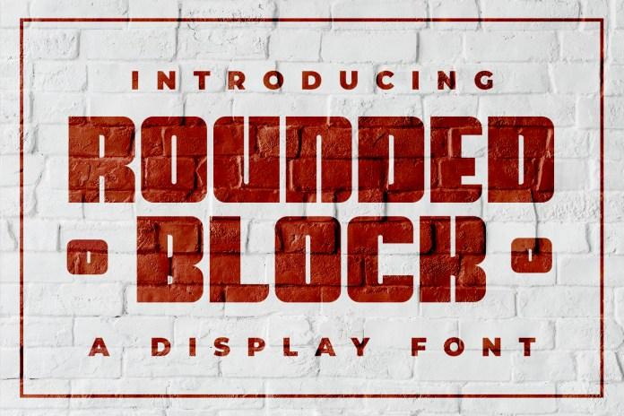 Rounded BlockLogo Font