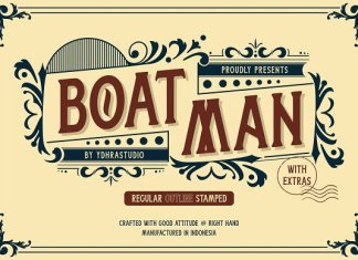SALE! Boatman Font + Extras