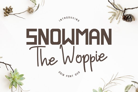 Snowman The Woppie - Font Duo