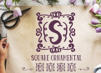 Square Ornamental Monogram