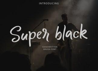 Super black Script Font