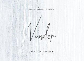 Vander Script Font