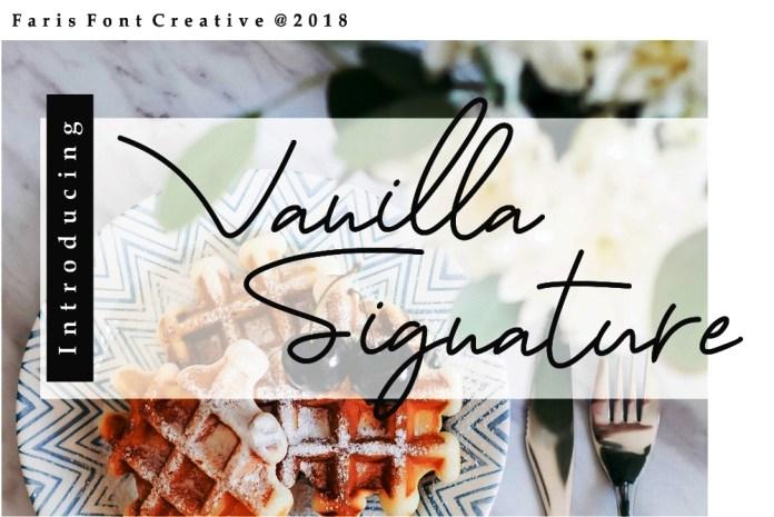 Vanilla Signature Script Font
