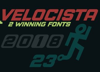 Velocista Display -2 fonts