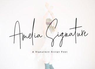 Amelia Signature Font
