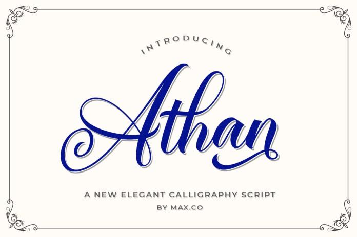 Athan Script Font