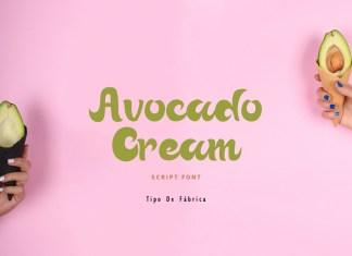 Avocado Cream || Avocado Cream Rough FontScript Font