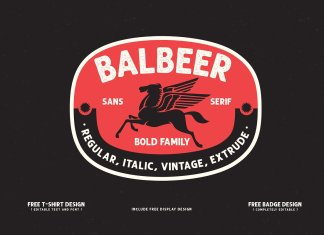 BALBEER FONT FAMILY + BONUS