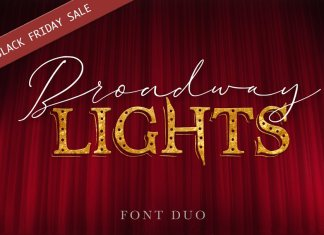 Broadway Lights | Duo Font