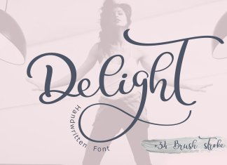 Calligraphy Wedding Font Delight