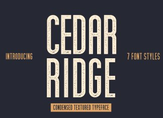 Cedar Ridge, 7 Styles Font