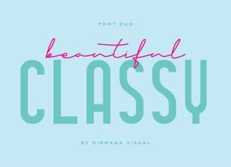 Classy Beautiful - Font Duo Script Font