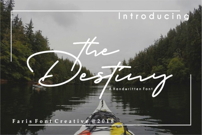 Destiny Script Font