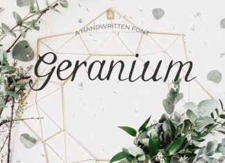 Geranium Font