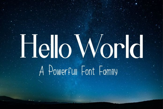 Hello World Font Family Regular
