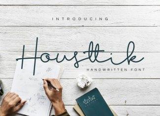 Housttik Handwritten ScriptScript Font