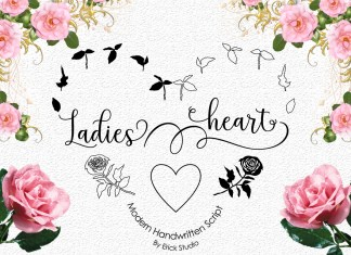 Ladies heart Script Font