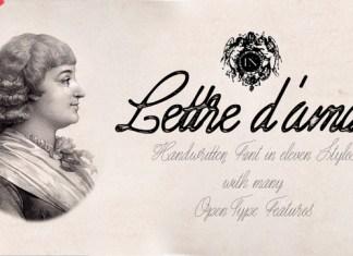 Lettre D'amour Font Family