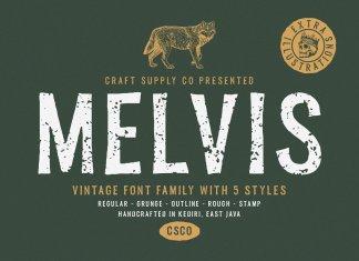 Melvis - Vintage Font