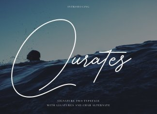 Qurates Signature Two Font
