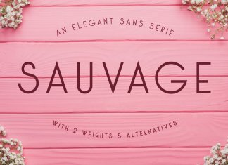 Sauvage - An Elegant Sans Serif
