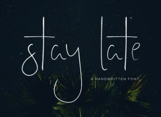 Stay Late - A Handwritten Font