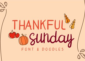 thankful sunday Regular Font