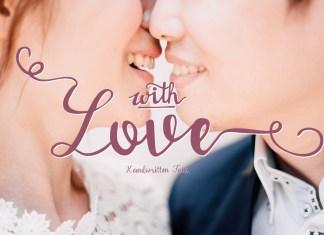 With love Handwritten Script Font