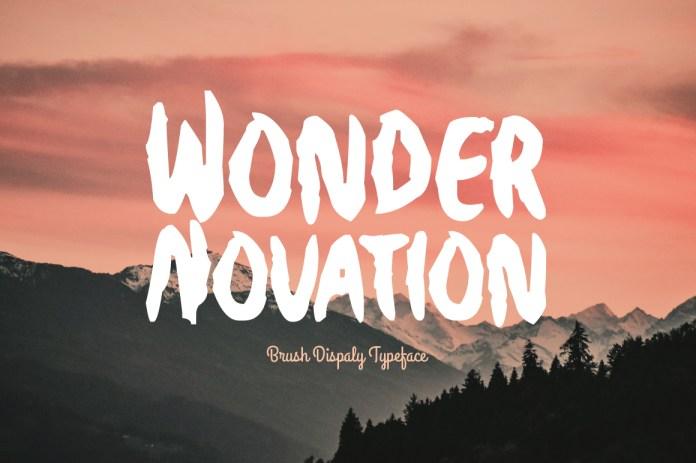 Wonder Novation Regular Font
