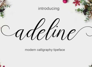 adeline Script Font