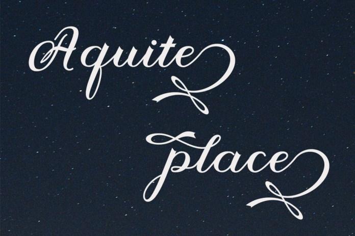 Agamstyle Script Font