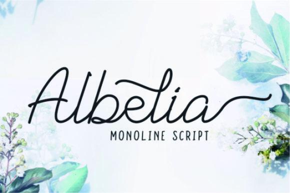 Albelia Script Font