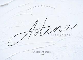 Astina Script Font